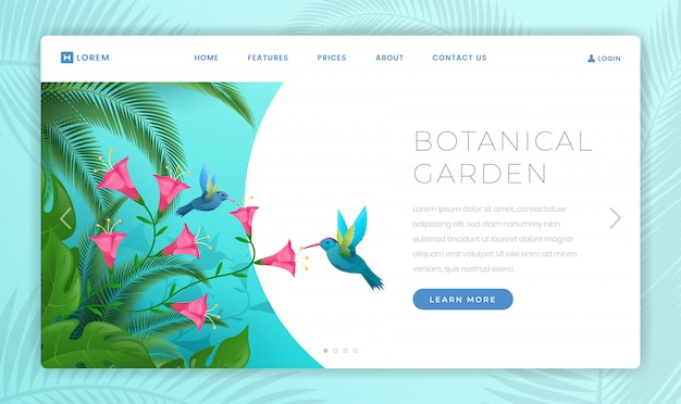 Landingspagina sjabloon botanische tuin