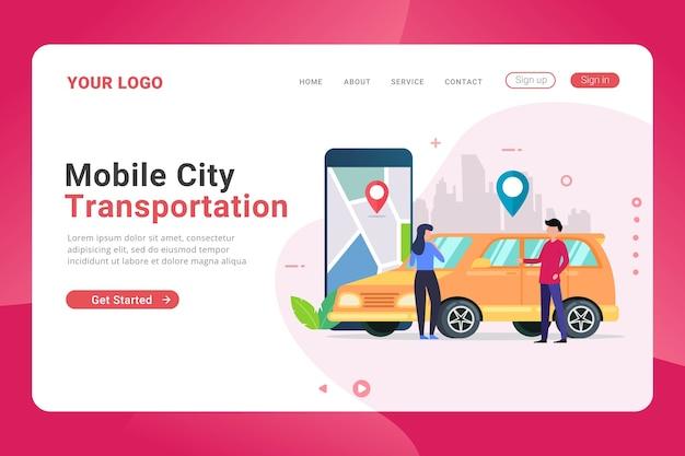 Landingspagina sjabloon online boeking autovervoer