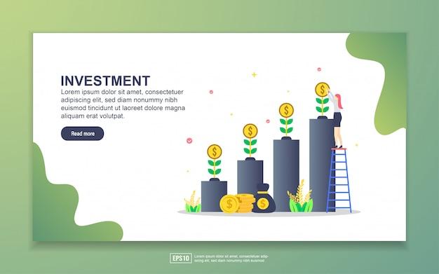 Landingspagina sjabloon van investeringen