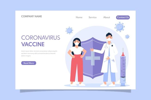 Landingspagina-sjabloon voor coronavirus-vaccin