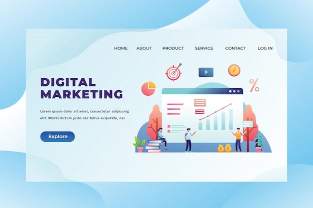 Landingspagina sjabloon voor digitale marketing