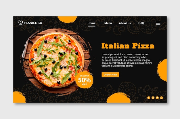 Landingspagina sjabloon voor italiaans eten restaurant