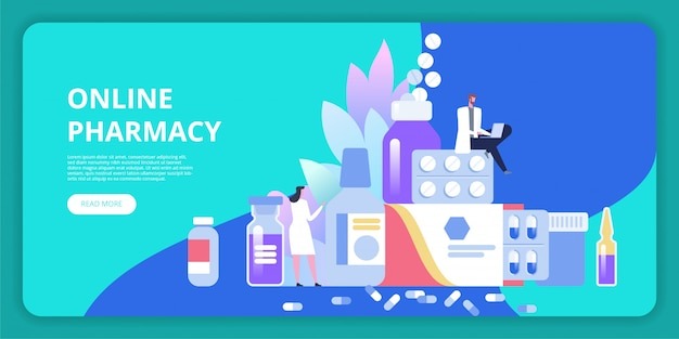 Landingspagina sjabloon voor online apotheken