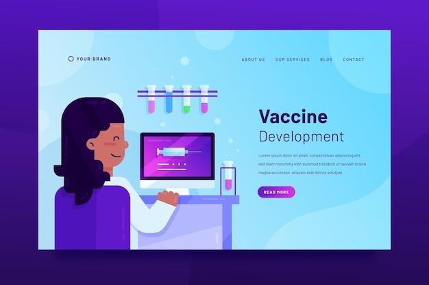 Landingspagina sjabloon voor vaccinontwikkeling