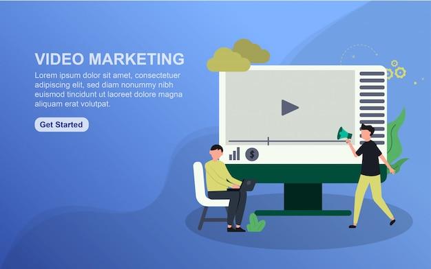 Landingspagina-sjabloon voor videomarketing
