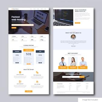 Landingspagina-sjabloon voor webhostingservice
