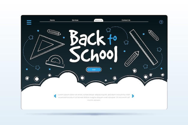 Landingspagina-stijl terug naar schoolevenement