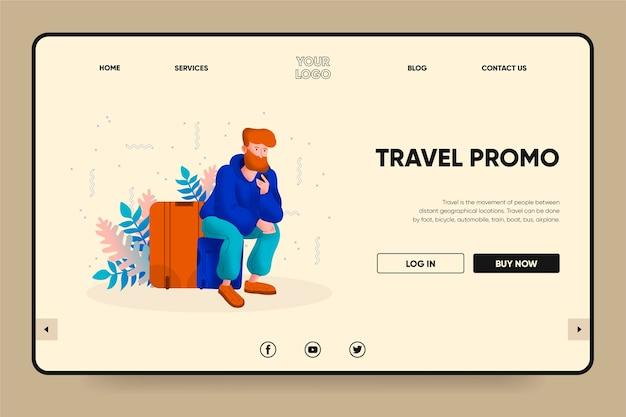Landingspagina-thema voor reisverkoop