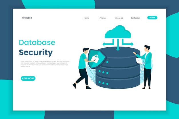 Landingspagina van databasebeveiliging