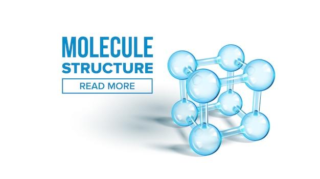 Landingspagina van de wetenschappelijke molecuulstructuur