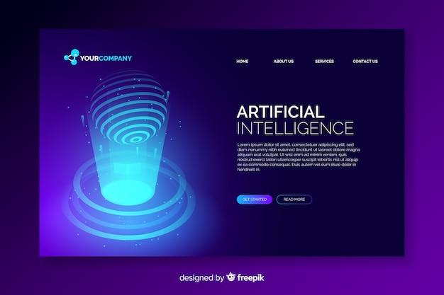 Landingspagina van digitale kunstmatige intelligentie