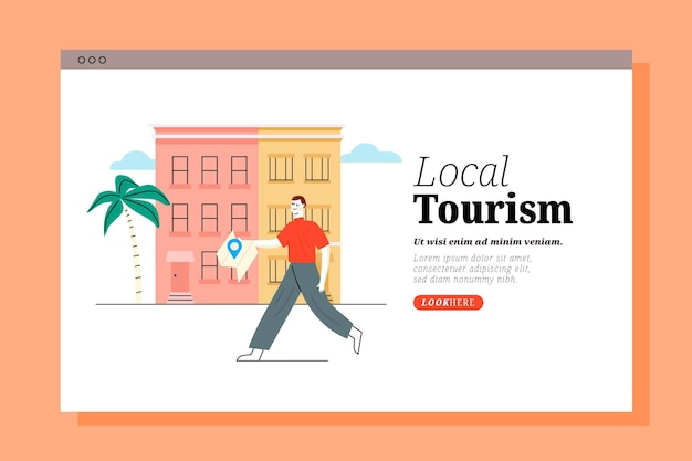 Landingspagina van lokaal toerisme