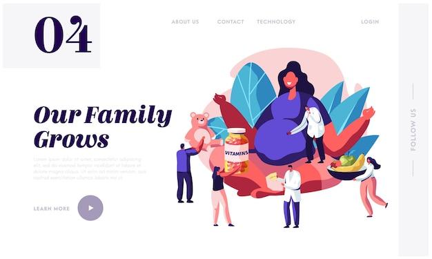 Landingspagina van zwangerschapswebsite.