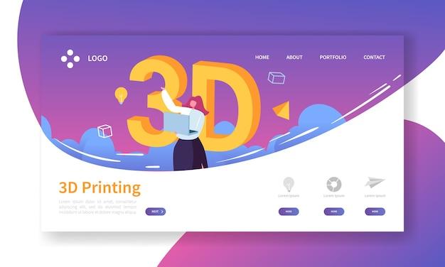 Landingspagina voor 3d-printtechnologie