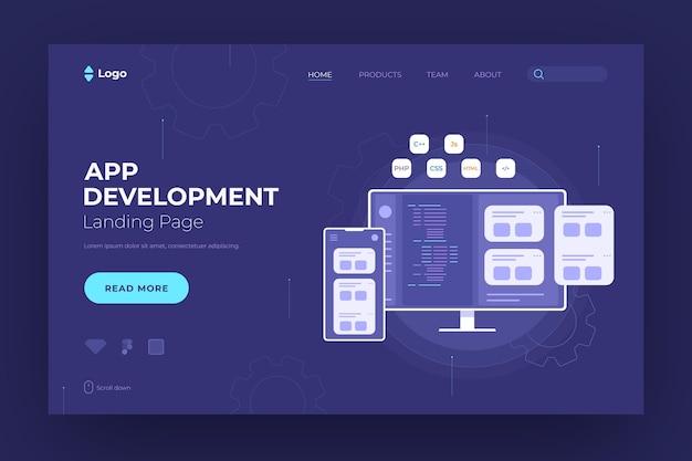 Landingspagina voor app-ontwikkeling