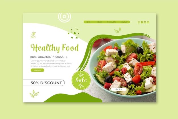 Landingspagina voor bio en gezonde voeding