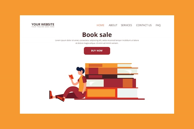 Landingspagina voor boekverkoop