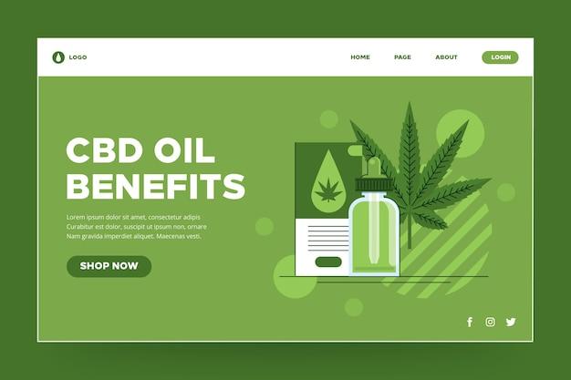 Landingspagina voor cannabisolie