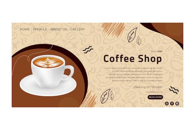 Landingspagina voor coffeeshop