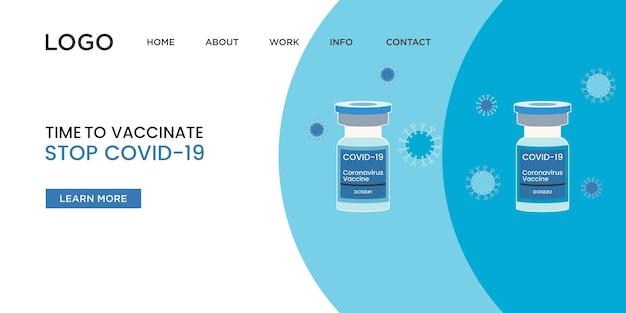 Landingspagina voor coronavirusvaccin
