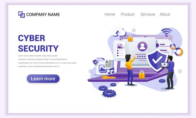 Landingspagina voor cyberbeveiliging