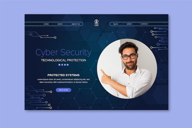 Landingspagina voor cyberveiligheid