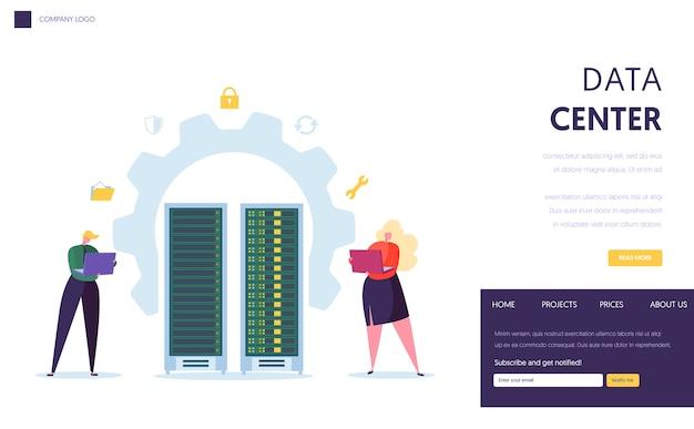 Landingspagina voor datacenter-serverpersoneel