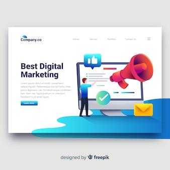 Landingspagina voor digitale marketing