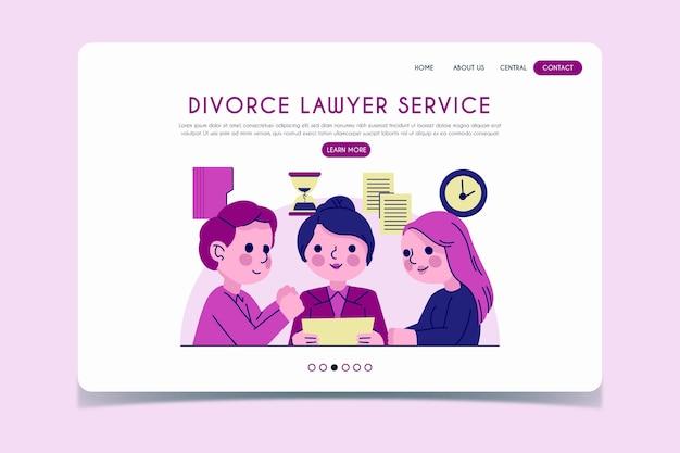 Landingspagina voor echtscheidingsadvocaten