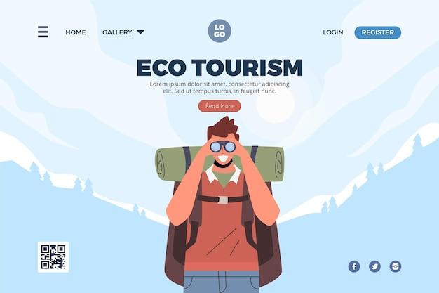 Landingspagina voor ecotoerisme cocnept