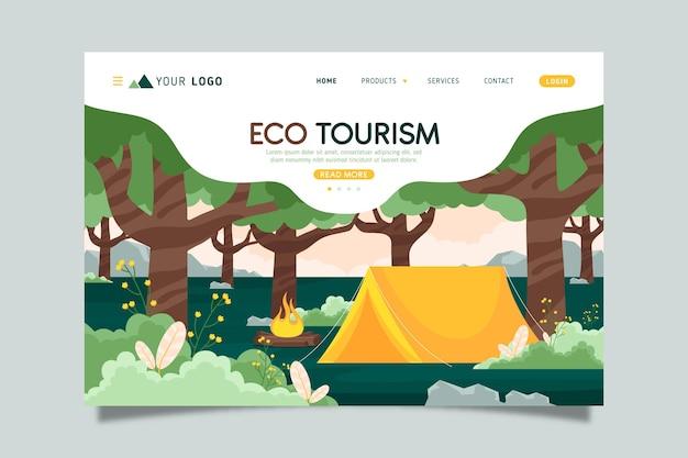 Landingspagina voor ecotoerisme