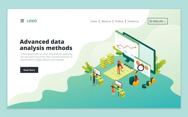 Landingspagina voor geavanceerde methoden voor gegevensanalyse
