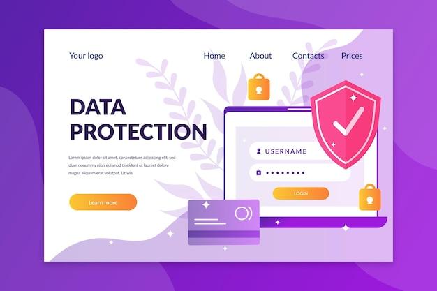 Landingspagina voor gegevensbescherming
