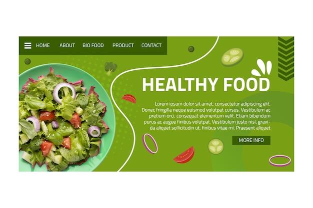 Landingspagina voor gezonde voeding
