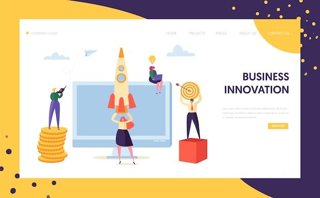 Landingspagina voor het opstarten van creatieve bedrijfsinnovatie