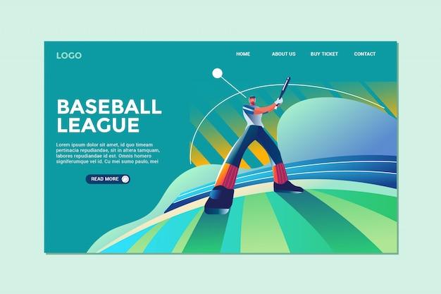 Landingspagina voor honkbal