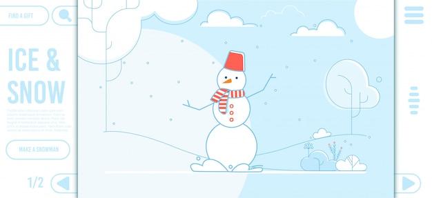Landingspagina voor ijs en sneeuw