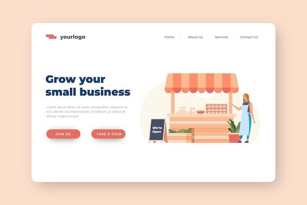 Landingspagina voor kleine bedrijven