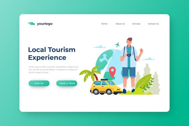 Landingspagina voor lokaal toerisme