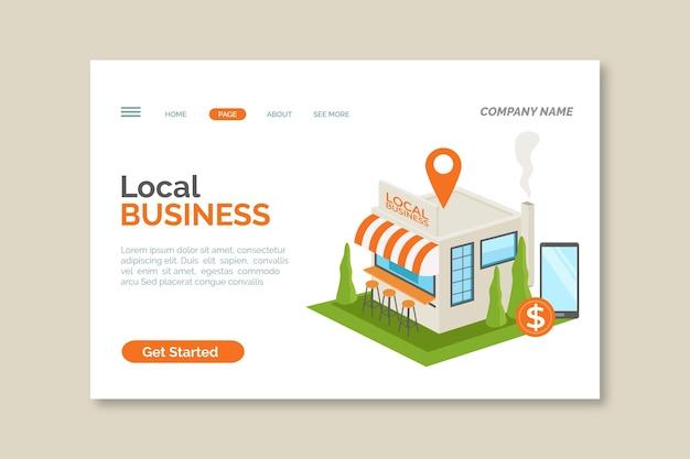 Landingspagina voor lokale bedrijven