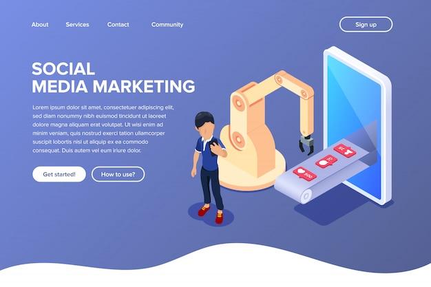 Landingspagina voor marketing via sociale media