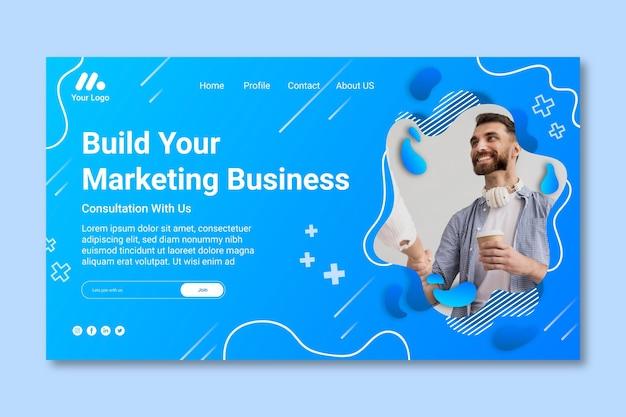 Landingspagina voor marketingbedrijven