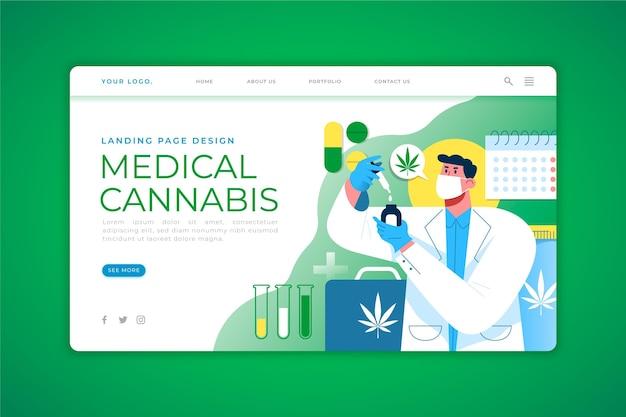 Landingspagina voor medicinale cannabis