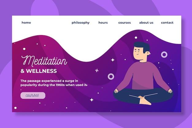 Landingspagina voor meditatie en mindfulness