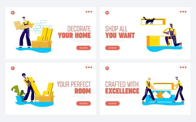 Landingspagina voor meubelmontageservice voor nieuwe bedrijfswebsite