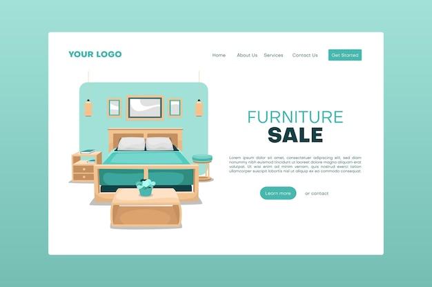 Landingspagina voor meubelverkoop