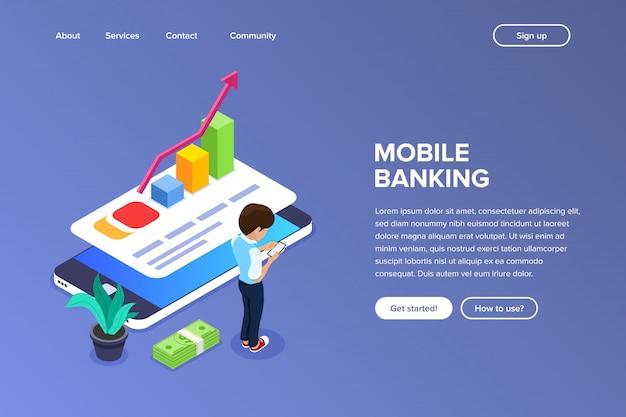 Landingspagina voor mobiel bankieren