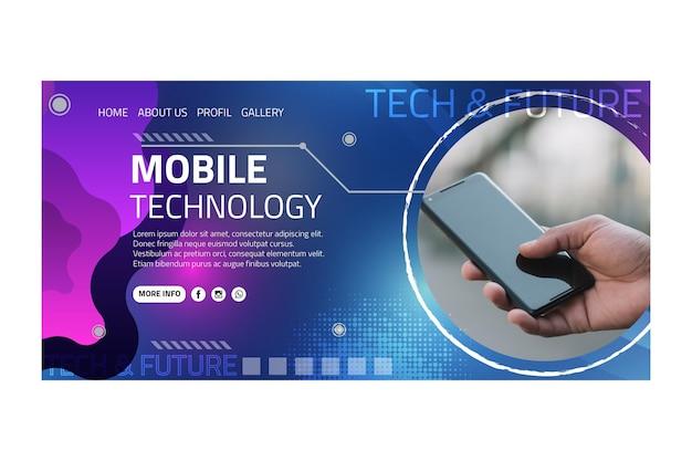 Landingspagina voor mobiele technologie
