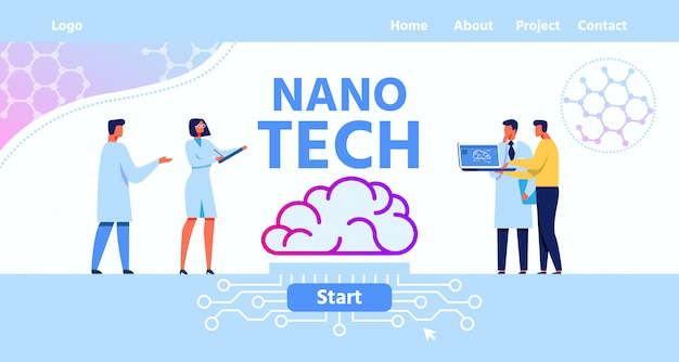 Landingspagina voor nano tech brain laboratory