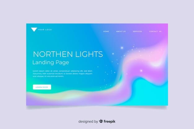 Landingspagina voor noorderlicht